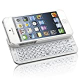 slide keyboard phone cases - Naztech N5200 Ultra-Thin Bluetooth Wireless Slideout Keyboard Case for Apple iPhone SE/5S/5-White