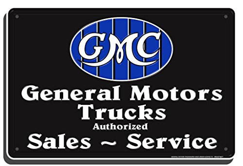 GMC Trucks Sales Service Metal Sign