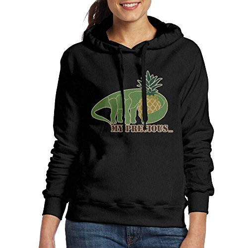 Dinosaur2 Hoodie Pocket Kangaroo Vegetarian Sweatshirt Black Women's Popular Pullover EqnzX5