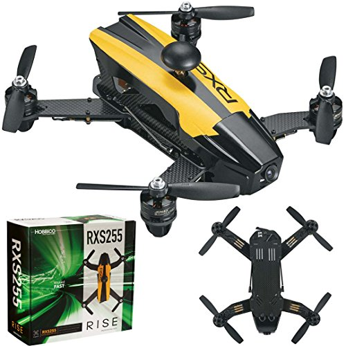 RISE RXS255 Brushless Receiver Ready & Transmitter Ready (RxR / TxR) Extreme Speed FPV Racing Drone with 1000TVL CMOS Camera & BLHeli OneShot125 (Expert Pilots ()