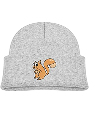 Fashion Psychedelic Squirrel Printed Teething Baby Winter Hat Beanie