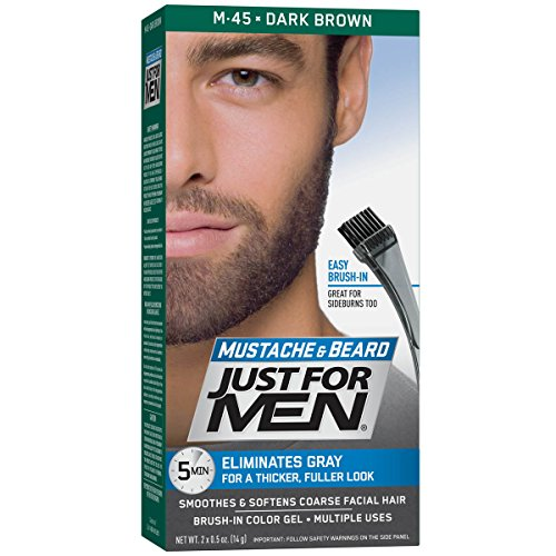 Just Men Mustache Beard Brush
