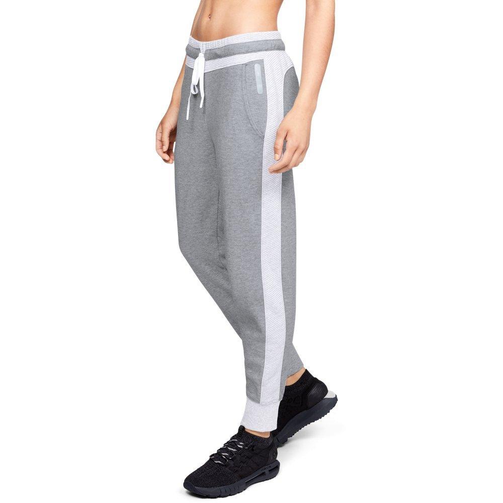 Under Armour Women's Unstoppable Double Knit Pants, Steel Medium Heather (035)/Tonal, X-Large