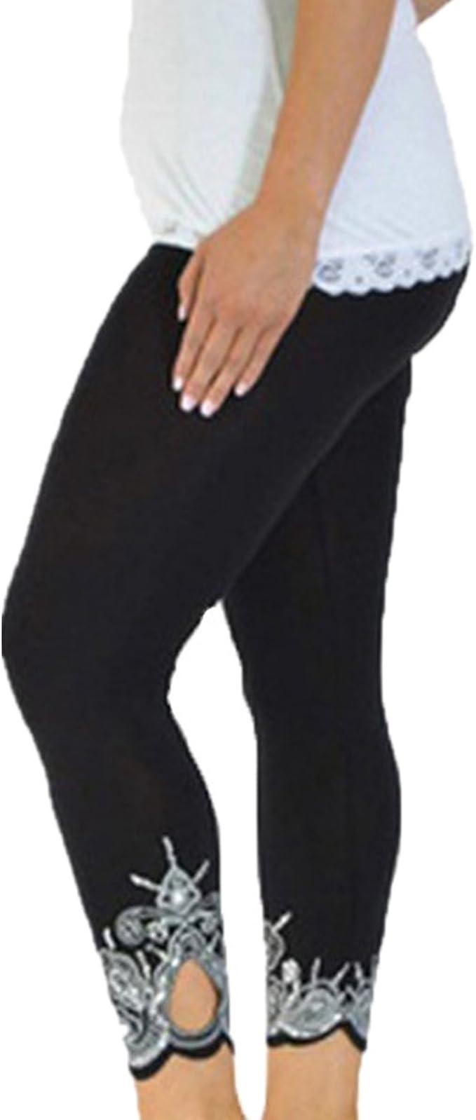 Amazon.com: ZOMUSA - Leggings elásticos para mujer, cintura ...