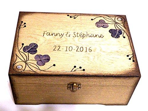 Amazon Com Wedding Box Wedding Gift Wooden Box Personalized Box