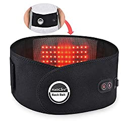 """Lower Back Heating Pad/Heated Waist Belt Back Massager with Heat Heating&Massaging Back Belt Wrap Lower Back Pain Relief Fit for 29""""-45"""" Waists"""