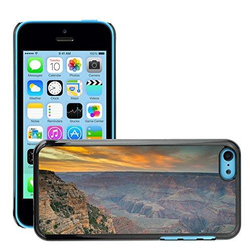 Stampato Modelli Hard plastica Custodie indietro Case Cover pelle protettiva Per // M00421769 Grand Canyon Amérique Nationa Célèbre // Apple iPhone 5C