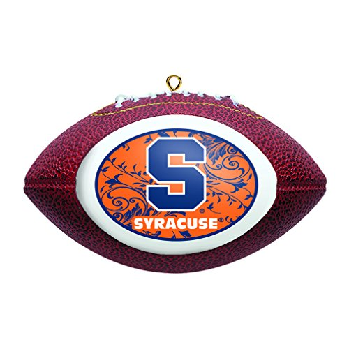 NCAA Syracuse Orange Replica Football Ornament
