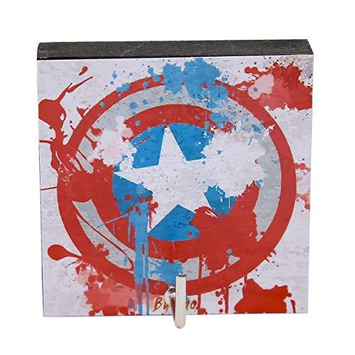 (Agility Bathroom Wall Hanger Hat Bag Key Adhesive Wood Hook Vintage White Captain Ameria Logo's Photo)