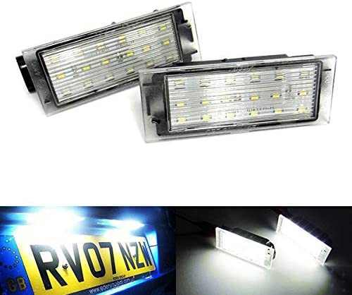 2x LED Licence Number Plate Light White Canbus For Movano B Vivaro X82 NV300 NV400 Talento MB Citan 415 Fortwo Forfour 453