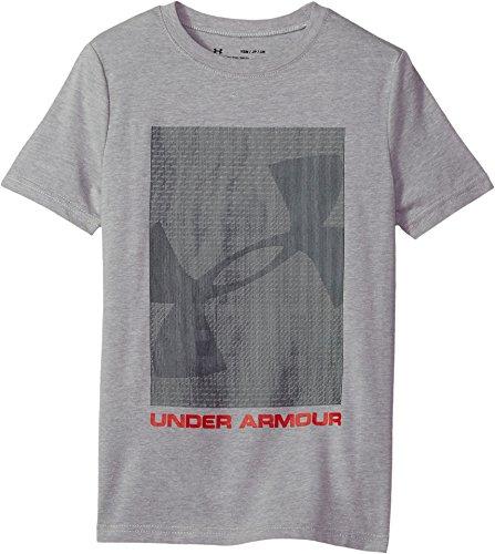 Under Armour Boys Lenticular Best Kept T-Shirt, Steel Light Heather (035)/Red, Youth Medium