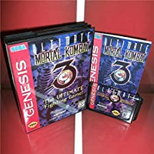 Mortal Kombat 3-The Ultimate Fighting US Cover with Box and Manual For Sega Megadrive Genesis Video Game Console 16 bit MD card - Sega Genniess - Sega Ninento, 16 bit MD Game Card For Sega Mega
