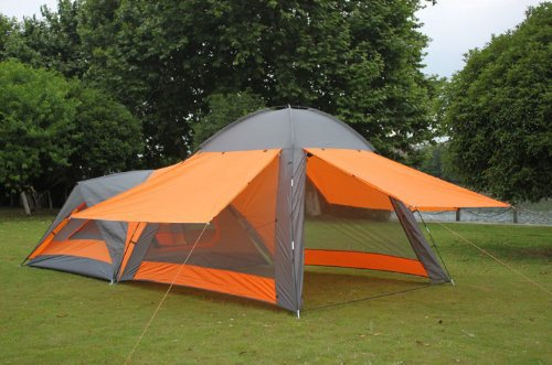 Amazon.com  4-8 Person Waterproof Double Layer Outdoors C&ing Durable Gear 1 Room 1 Hall Party Tent  Sports u0026 Outdoors & Amazon.com : 4-8 Person Waterproof Double Layer Outdoors Camping ...