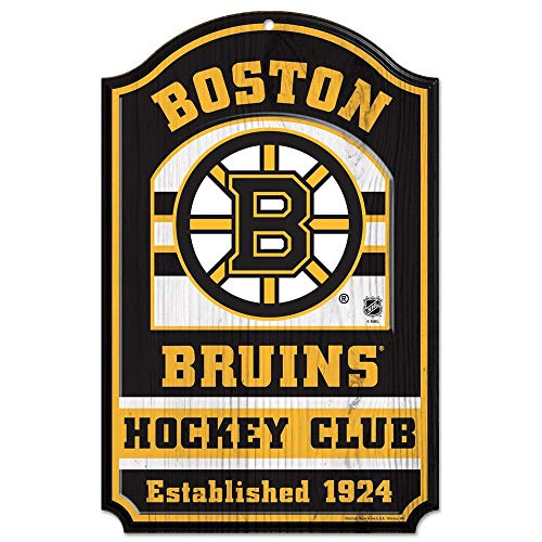 WinCraft NHL Boston Bruins 34755014 Wood Sign, 11