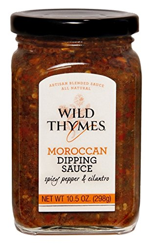 Chutney Thymes Wild - MOROCCAN FOOD DIPPING SAUCE By Wild Thymes Farm, 10.5oz