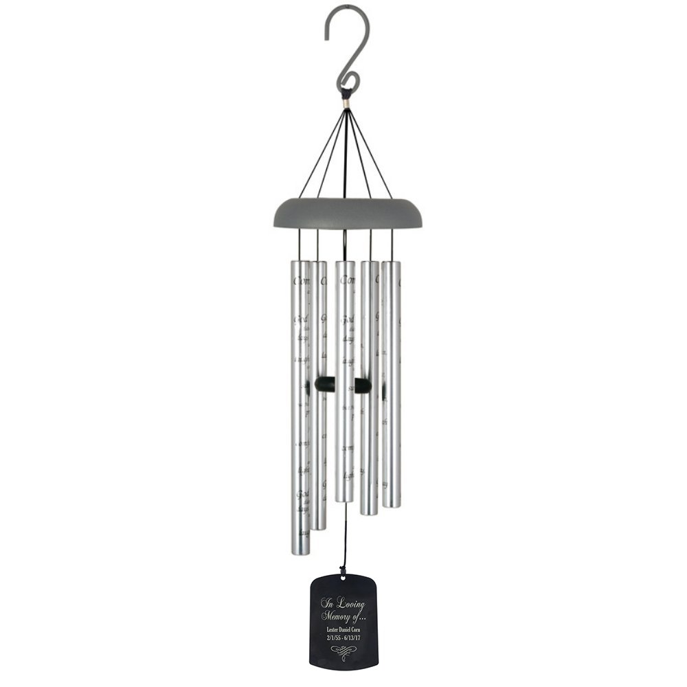 Carson Home Accents Personalized Memorial 30-Inch Sonnet Wind Chime (Comfort and Light)