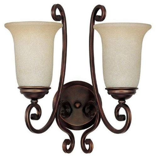 Capital Lighting 1762BB-251 Wall Sconce with Mist Scavo Glass Shades, Burnished Bronze Finish