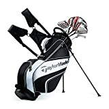 TaylorMade NEW 2017 AeroBurner Black Graphite Golf Set - Right Hand - Regular Flex - 12 Clubs + Bag