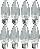 Best Tip Bulbs With Medium Bases - GE Lighting 76384 Crystal Clear 25-Watt, 170-Lumen Blunt Review