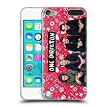 Official One Direction Red Group Icon Soft Gel Case for Apple iPod Touch 5G 5th Gen