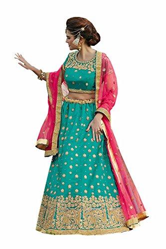 Da Facioun Indian Women Designer Wedding FIROZI Lehenga Choli R-16312
