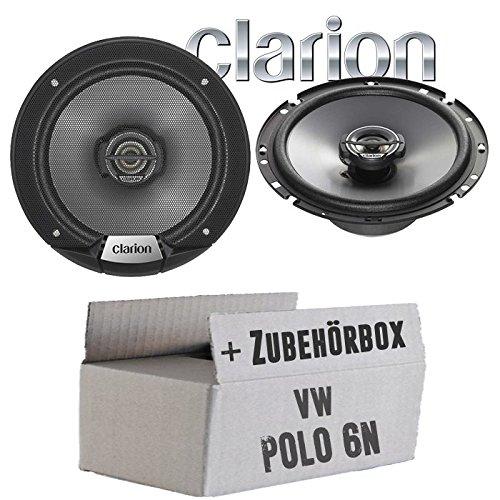 VW Polo 6N - Lautsprecher Boxen Clarion SRG1723R - 16cm Koaxsystem Auto Einbauzubehö r - Einbauset JUST SOUND best choice for caraudio VWPo6NKx_SRG1723R