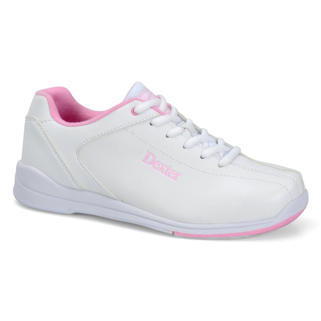 Dexter Womens Raquel IV Bowling Shoes- White/Pink (6 M US, White/Pink)