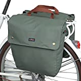 Best Bike Panniers - Tourbon Canvas Bike Bags Rear Rack Roll-up Bicycle Review