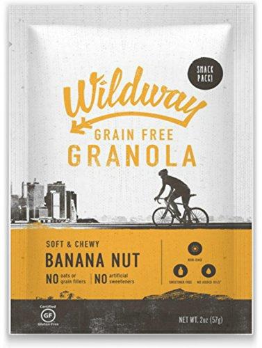 Wildway Grain-free Granola Snack Pack, Banana-Nut, 12-pack (Certified gluten-free, Paleo, Vegan, Non-GMO)