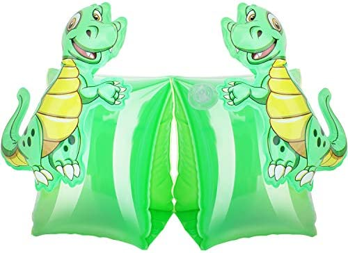 MoKo Inflatable Swim Floater Sleeves for Kids, Cartoon Swimiming Armbands Floaties Water Wings Floatation Sleeves, Pool Water Sports Learning Swim Training Aids, Dinosaur