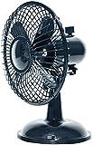 Comfort Zone Oscillating Desk Fan, Black