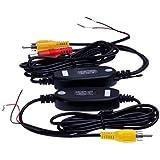 ATian ワイヤレスキット ワイヤレストランスミッター バックカメラ モニター等の配線不要 FM トランスミッター