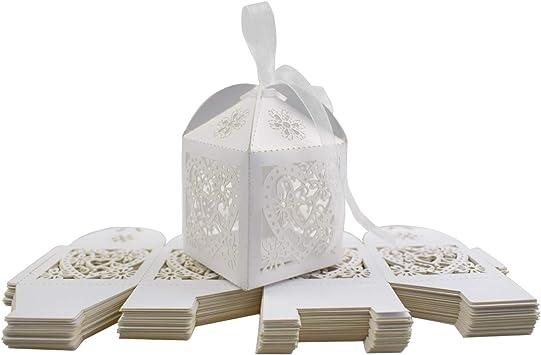 Caja para Caramelos, INTVN Wedding Candy Boxes Blanco Cajas ...