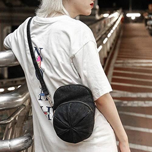 Negro para vaquero mujer Widewing hombro Bolso de al Sxv01Cq