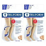 Truform Compression 20-30 mmHg Thigh High Stockings Beige, Medium, 2 Count