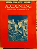 Working Papers for Accounting, CHS. 13-26 053883935X Book Cover