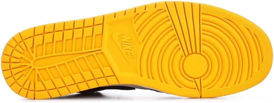 Nike Men\'s Jordan AJ 1 Low Sail/Gym Red/University Gold/Black Leather Casual Shoes 13 M US 51ZmPyl-sBLUL1078_