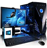 "VIBOX Gaming PC - Grapple Package 12 - 4.2GHz Intel i7 Quad Core CPU, GTX 1050 GPU, Advanced, Desktop Computer with Game Bundle, 22"" HD Monitor, Headset, Keyboard & Mouse, Windows 10 OS, Blue Internal Lighting and Lifetime Warranty* (Super Fast Intel i7 7700 Kabylake 4-Core CPU Processor, Nvidia GeForce GTX 1050 2GB Graphics Card GPU, 16GB DDR4 2133MHz High Speed RAM Memory, 1TB (1000GB) Sata III 7200rpm Hard Drive HDD, 85+ Rated PSU, Vibox Blue Case, B250 Motherboard)"