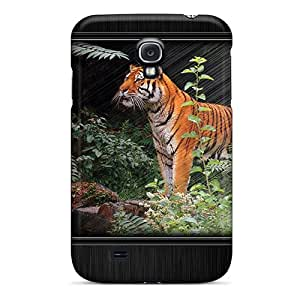 Galaxy S4 Case, Premium Protective Case With Awesome Look - Tiger