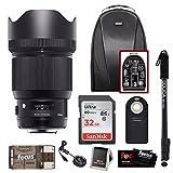 Sigma 85mm f/1.4 DG HSM Art Lens for Canon w/ Sigma Usb Dock & 32GB Premium Travel Bundle