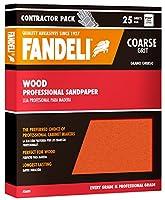 """Fandeli 36009 Coarse Grit Wood Sandpaper Sheets, 9"""" x 11"""", 25-Sheet"""