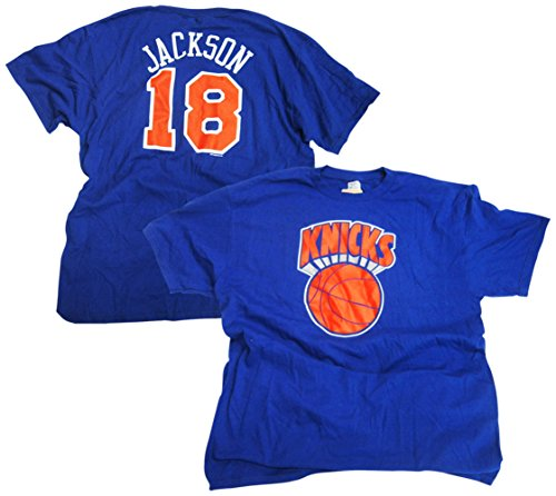 Majestic Phil Jackson New York Knicks Blue Throwback Jersey Name and Number T-shirt X-Large