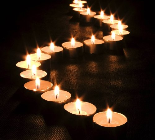 Canvas with LED Lights Tea-candles Picture HomeStyles (30x30cm)