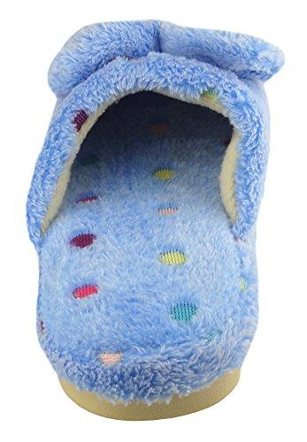 Pantofole Calde Dellinterno Del Puntino A Pois Della Casa Del Diffyou Dellarco Caldo Blu