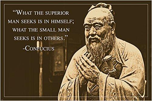 rare unique Confucius Photo Quote Poster ancient chinese philosopher
