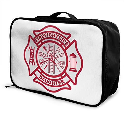 Firefighter Maltese Cross Lightweight Large Capacity Portable Luggage Bag Fashion Travel Duffel Bag
