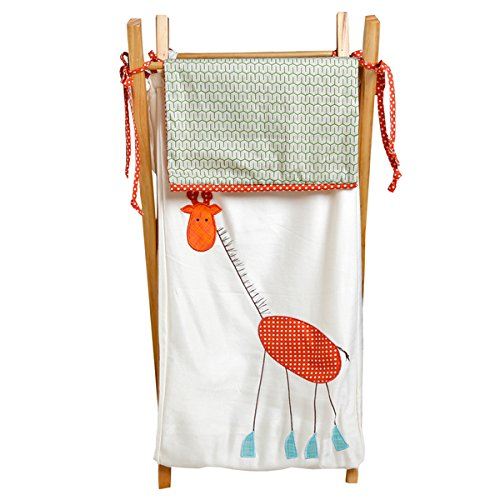 Cotton Tale SRHP Scribbles Jungle Embroidered Hamper by Cotton Tale Designs