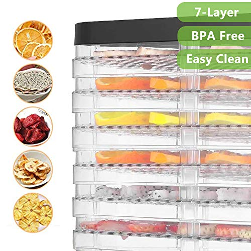 Food Dehydrator Machine Jerky with 7 Trays, Knob Button/250Watt by Hopekings (Image #4)