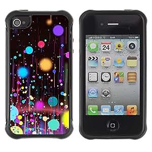 Suave TPU GEL Carcasa Funda Silicona Blando Estuche Caso de protección (para) Apple Iphone 4 / 4S / CECELL Phone case / / Planets Paint Spots Oil Art /
