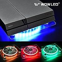 WOWLED Cooling Fan Mini 3 keys Control Gaming USB RGB LED...